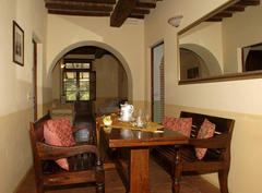 The inside of one of the agriturismo's apartments
