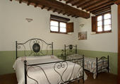 One of the agriturismo bedrooms