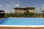 The private swimming pool of Podere Poetalla